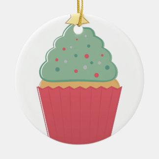Feiertags-kleiner Kuchen Rundes Keramik Ornament