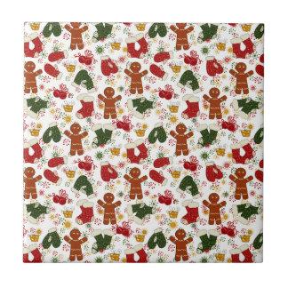 Feiertags-Lebkuchen-Muster Fliese