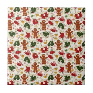 Feiertags-Lebkuchen-Muster Keramikfliese