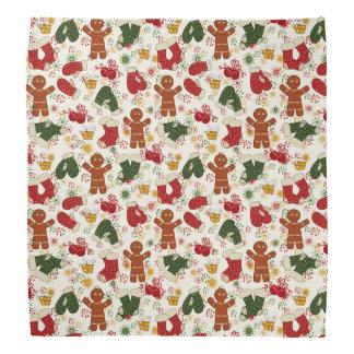 Feiertags-Lebkuchen-Muster Kopftuch