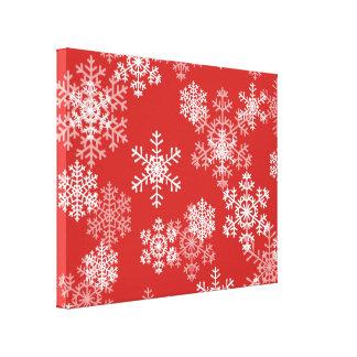Feiertags-Leinwand Kunst-Schneeflocken Leinwanddruck