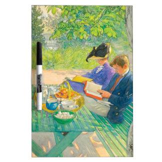 Feiertags-Lesung durch Carl Larsson Trockenlöschtafel