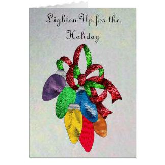 Feiertags-Lichter im Buntglas Karte