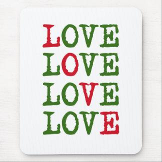 Feiertags-Liebe Mousepads