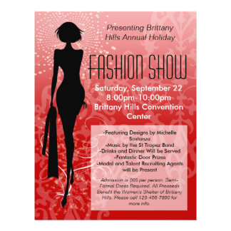 Feiertags-Mode-Show-Flyer, roter
