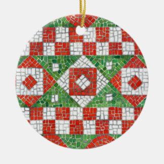 Feiertags-Mosaik Rundes Keramik Ornament