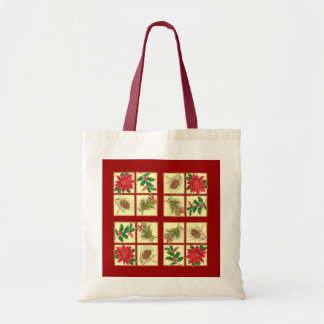 Feiertags-Mosaik Leinentaschen