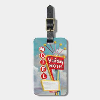 Feiertags-Motel-Zeichen Gepäckanhänger
