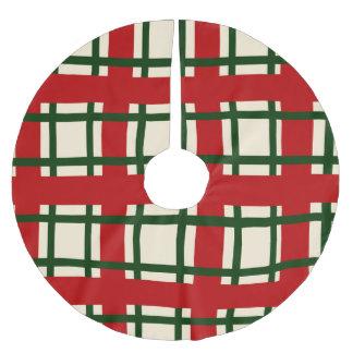 Feiertags-Muster - criss Kreuz Polyester Weihnachtsbaumdecke