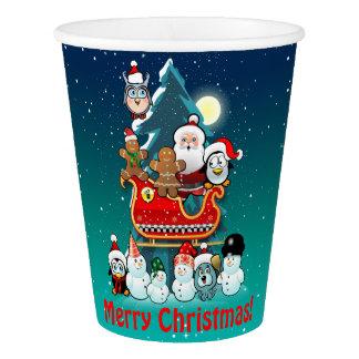 Feiertags-Party durch den Weihnachtsbaum Pappbecher