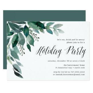 Feiertags-Party Einladung des Winter-Überfluss-|