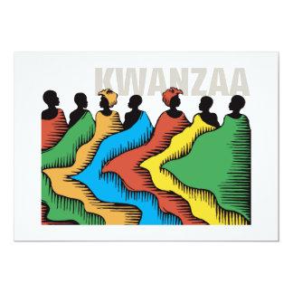 Feiertags-Party Einladungen Regenbogen-Kwanzaas