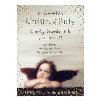 Feiertags-Party mit Engel 14 X 19,5 Cm Einladungskarte
