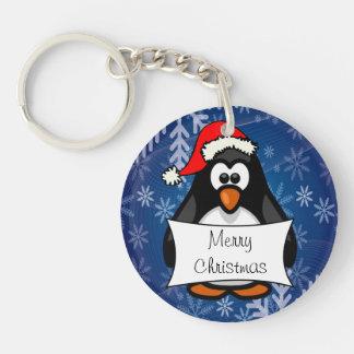 Feiertags-Pinguin Schlüsselanhänger