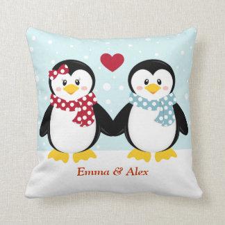 Feiertags-Pinguin-Wurfs-Kissen