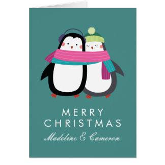 Feiertags-Pinguine der frohen Weihnacht-| Karte