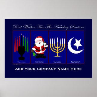Feiertags-Plakat (fügen Sie Ihren Firmennamen) ein