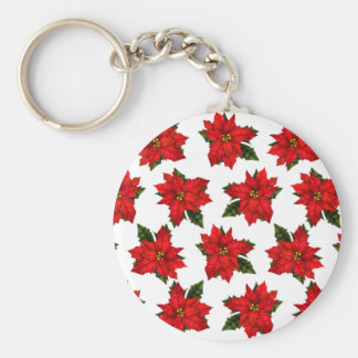 Feiertags-Poinsettias Schlüsselanhänger