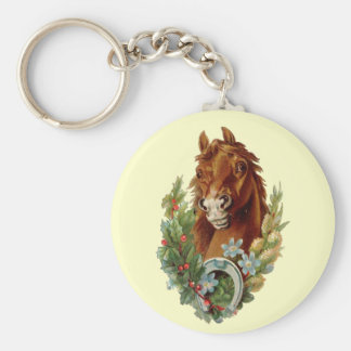 Feiertags-Pony Standard Runder Schlüsselanhänger