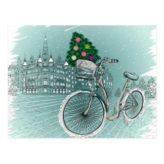 Feiertags-Postkarte mit Feiertags-Baum