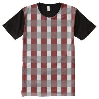 Feiertags-Rot T-Shirt Mit Bedruckbarer Vorderseite