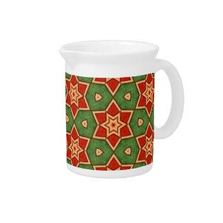 Feiertags-rote grüne Stern-kundenspezifisches Getränke Pitcher