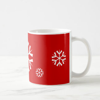 Feiertags-Schneeflocke der Tassen-  Kaffeetasse