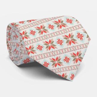 Feiertags-Schneeflocke-nordische Krawatten