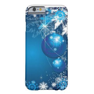 Feiertags-Schneeflocke-Verzierungs-Blau-Baum Barely There iPhone 6 Hülle
