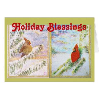 Feiertags-Segen - Kardinäle Karte