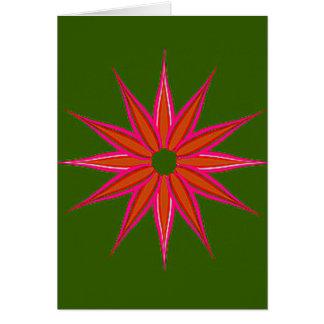 Feiertags-Stern Vintag Grußkarte
