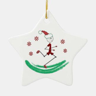 Feiertags-Stock-Läufer-Typ © - Front und Rückseite Keramik Ornament