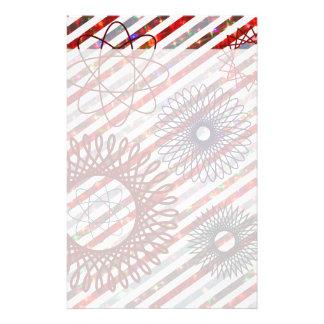 Feiertags-Streifen und Spirographs-funkelndes Must Druckpapier