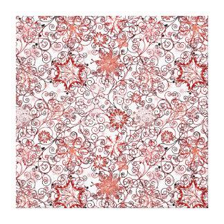 Feiertags-Strudel und Schneeflocke-abstrakter Leinwanddruck