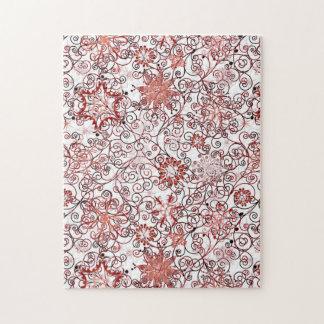 Feiertags-Strudel und Schneeflocke-abstrakter Puzzle