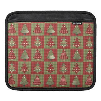 Feiertags-traditionelles Weihnachtsbaum-Muster Sleeve Für iPads
