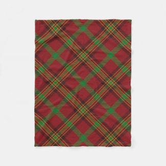 Feiertags-traditionelles Weihnachtstartan-Muster Fleecedecke