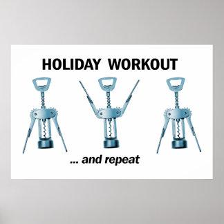 Feiertags-Training Poster