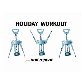 Feiertags-Training Postkarten