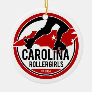 Feiertags-Verzierung Carolinas Rollergirls Rundes Keramik Ornament