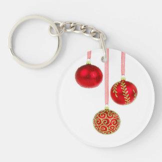 Feiertags-Verzierungen Einseitiger Runder Acryl Schlüsselanhänger