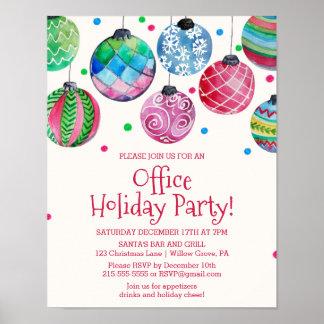 Feiertags-Verzierungs-Büro-WeihnachtsParty Poster