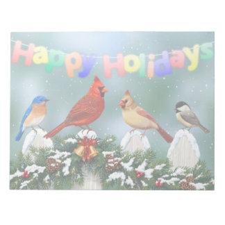 Feiertags-Vögel u. Weihnachtsgirlande Notizblock
