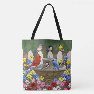 Feiertags-Vögel u. Weihnachtsgirlande Tasche