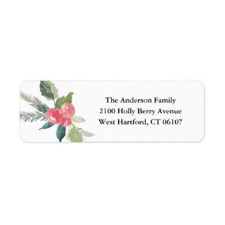 Feiertags-Waldadressen-Etiketten Rückversand-Adressaufkleber