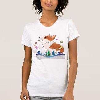 Feiertags-WaliserCorgi mit Geschenken T-Shirt