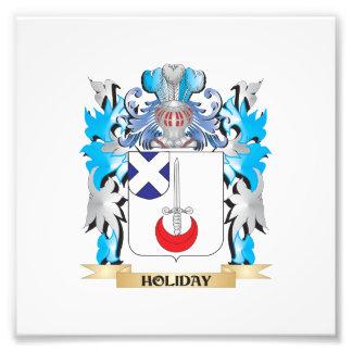 Feiertags-Wappen - Familienwappen Foto Druck