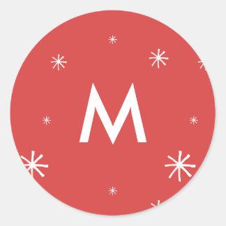 Feiertags-Wappen-rotes und weißes Runder Aufkleber