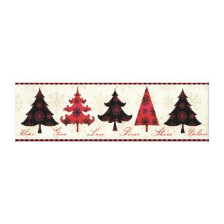 Feiertags-Weihnachtsbäume Gespannter Galeriedruck
