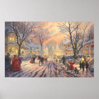 Feiertags-Weihnachtsplakat Poster